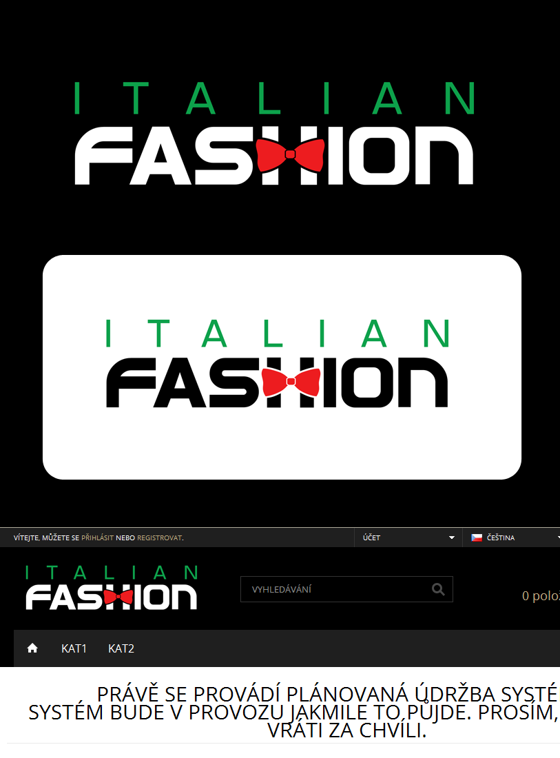 Logo Design by Private User - Entry No. 88 in the Logo Design Contest Logo for Web Page ItalianFashion.cz.