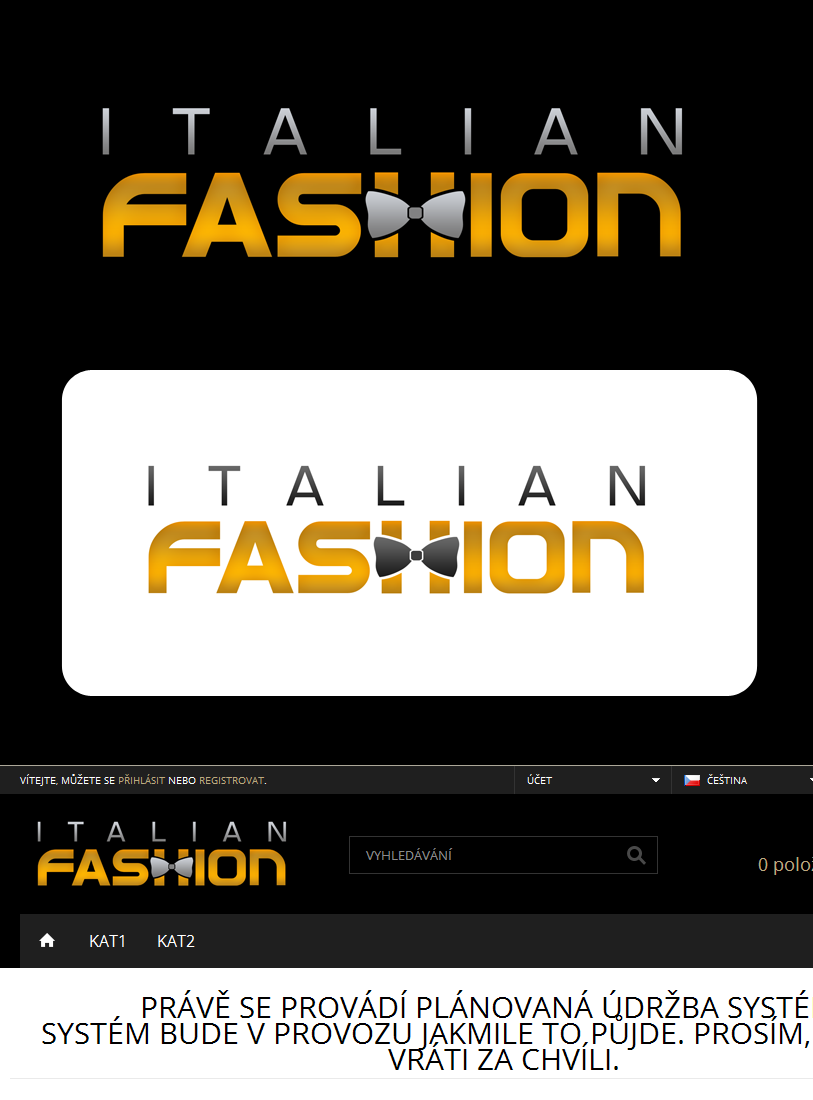 Logo Design by Private User - Entry No. 89 in the Logo Design Contest Logo for Web Page ItalianFashion.cz.