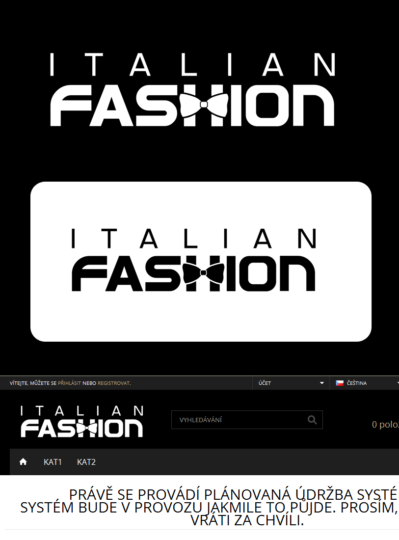 Logo Design by Private User - Entry No. 91 in the Logo Design Contest Logo for Web Page ItalianFashion.cz.