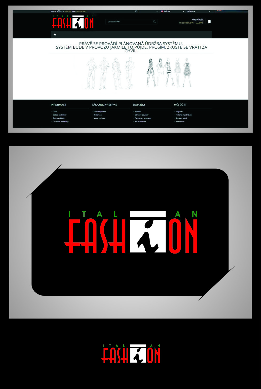 Logo Design by RasYa Muhammad Athaya - Entry No. 95 in the Logo Design Contest Logo for Web Page ItalianFashion.cz.