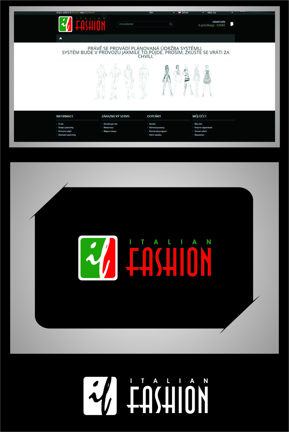 Logo Design by RasYa Muhammad Athaya - Entry No. 98 in the Logo Design Contest Logo for Web Page ItalianFashion.cz.