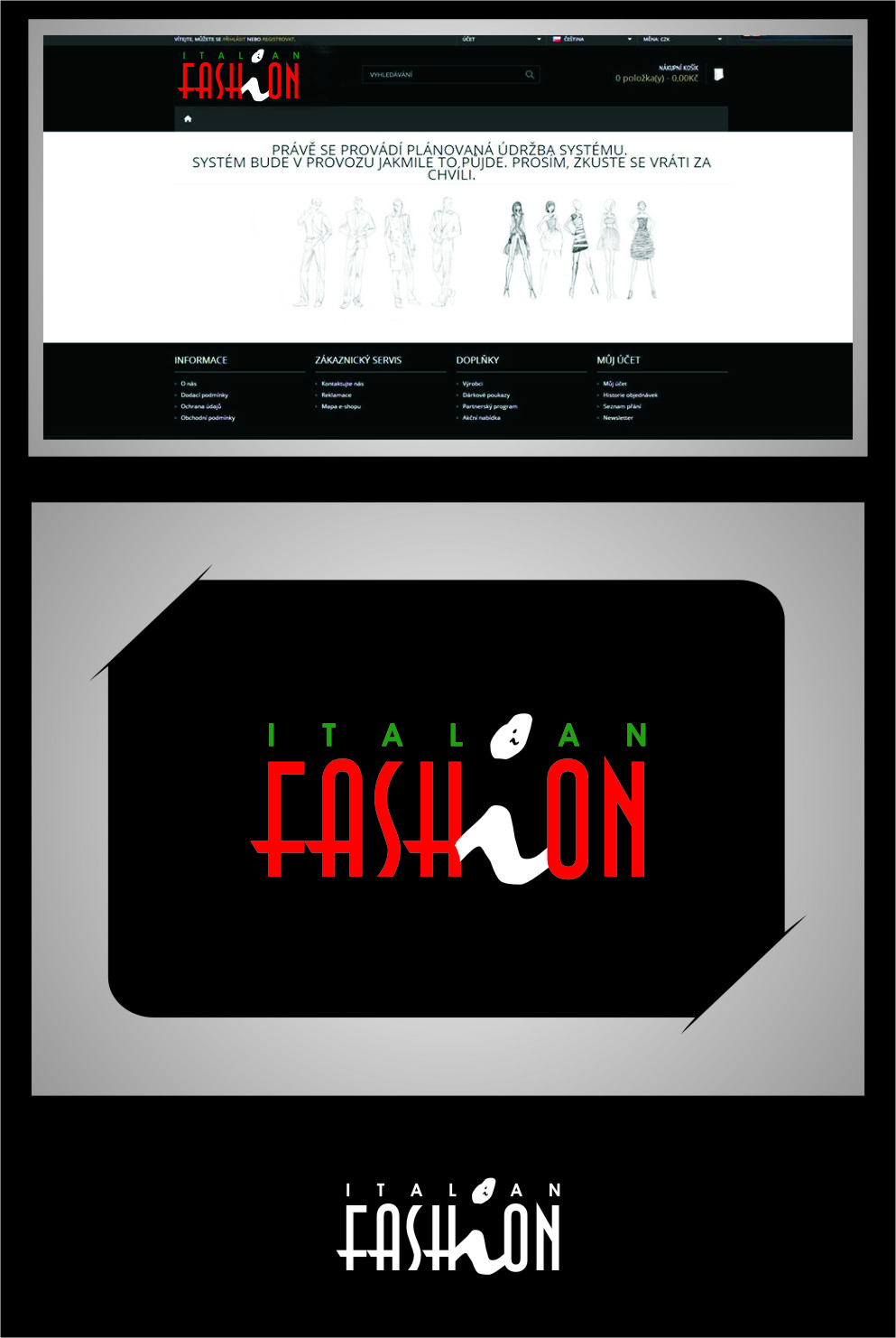 Logo Design by Ngepet_art - Entry No. 99 in the Logo Design Contest Logo for Web Page ItalianFashion.cz.