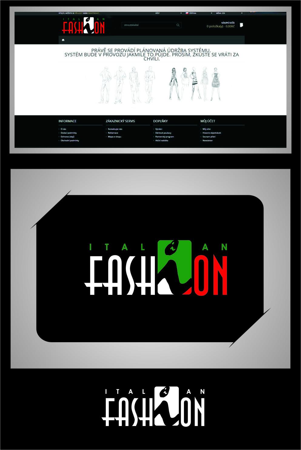 Logo Design by RasYa Muhammad Athaya - Entry No. 101 in the Logo Design Contest Logo for Web Page ItalianFashion.cz.