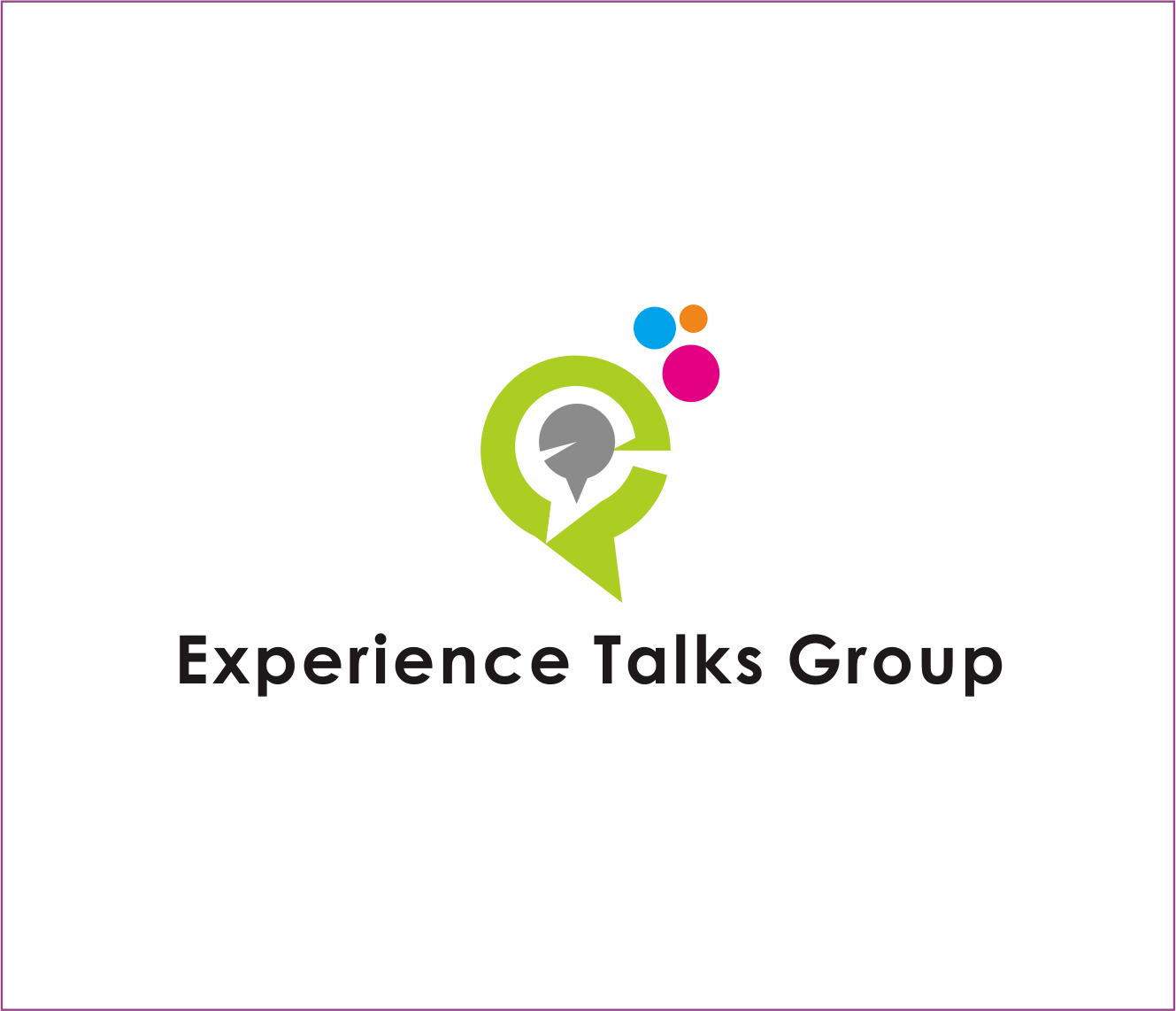 Logo Design by Armada Jamaluddin - Entry No. 41 in the Logo Design Contest Captivating Logo Design for Experience Talks Group.