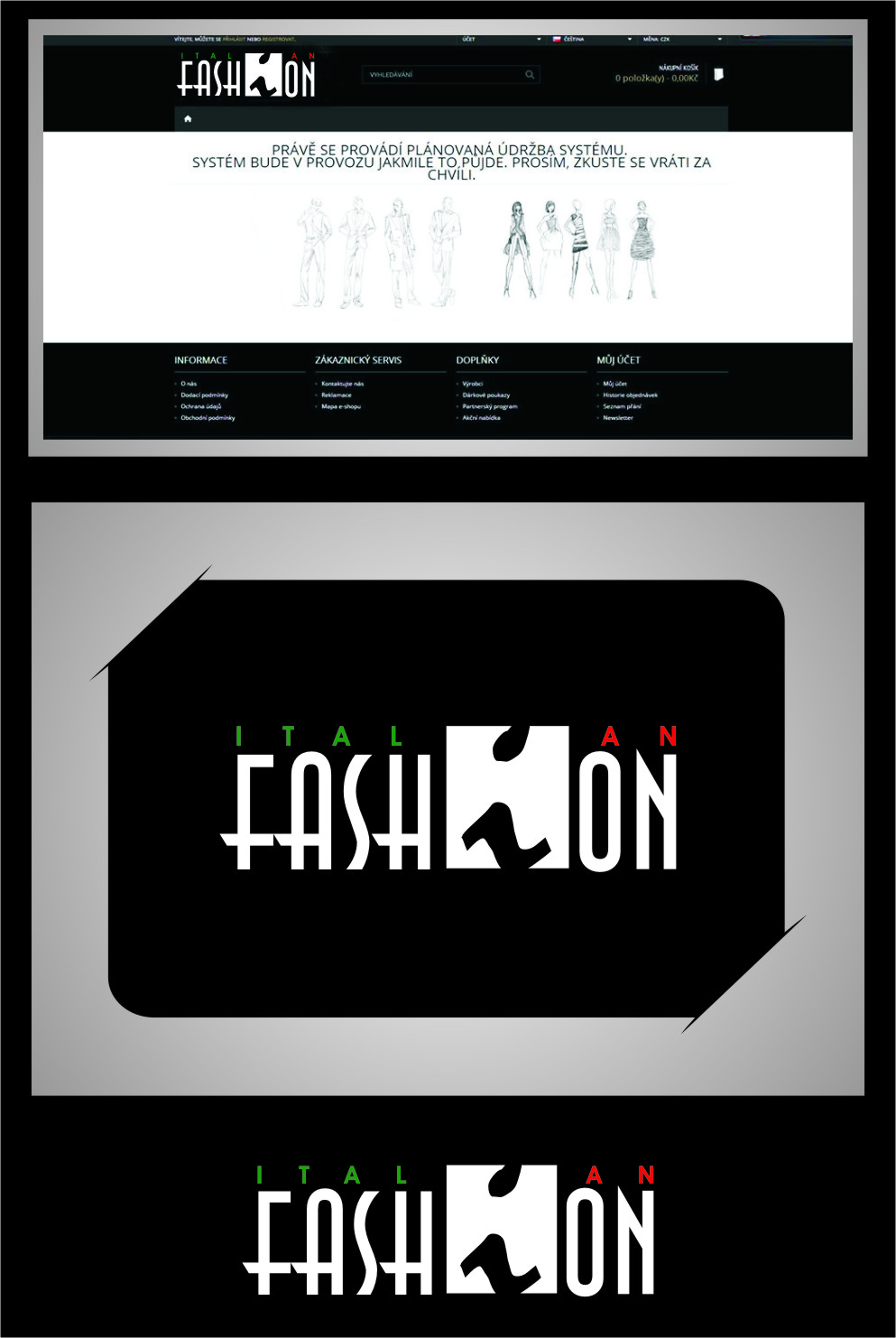 Logo Design by RasYa Muhammad Athaya - Entry No. 102 in the Logo Design Contest Logo for Web Page ItalianFashion.cz.