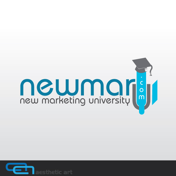 Logo Design by aesthetic-art - Entry No. 53 in the Logo Design Contest NewMarU.com (New Marketing University).