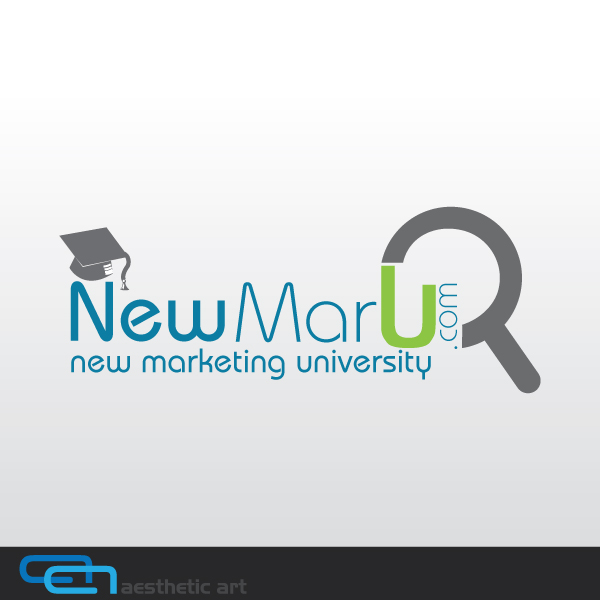 Logo Design by aesthetic-art - Entry No. 55 in the Logo Design Contest NewMarU.com (New Marketing University).