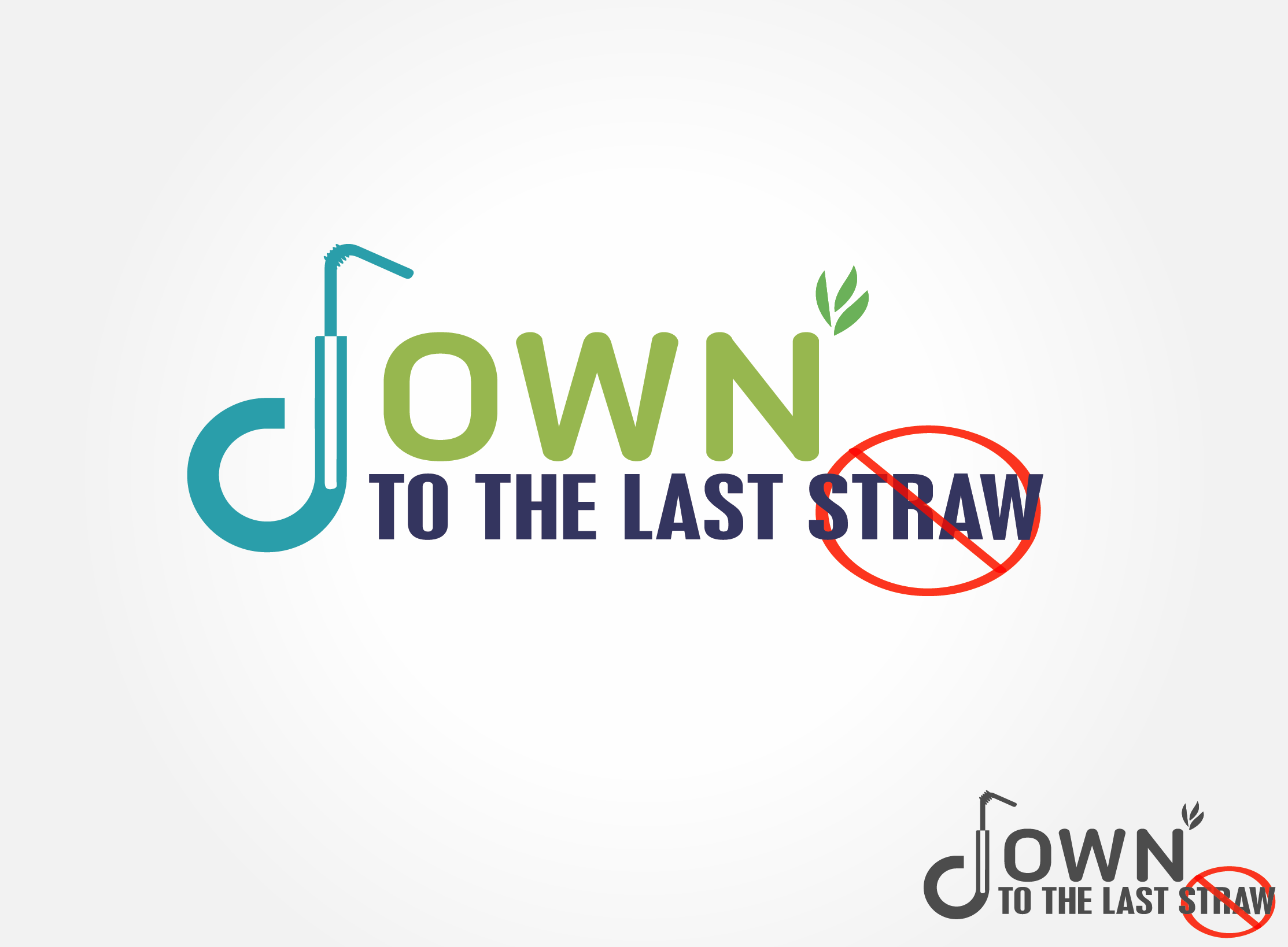 Logo Design by Maninder pal Singh - Entry No. 17 in the Logo Design Contest New Logo Design for DOWN TO THE LAST STRAW.