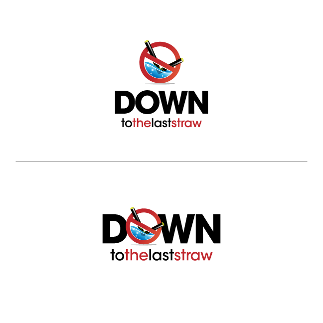 Logo Design by chinie05 - Entry No. 20 in the Logo Design Contest New Logo Design for DOWN TO THE LAST STRAW.