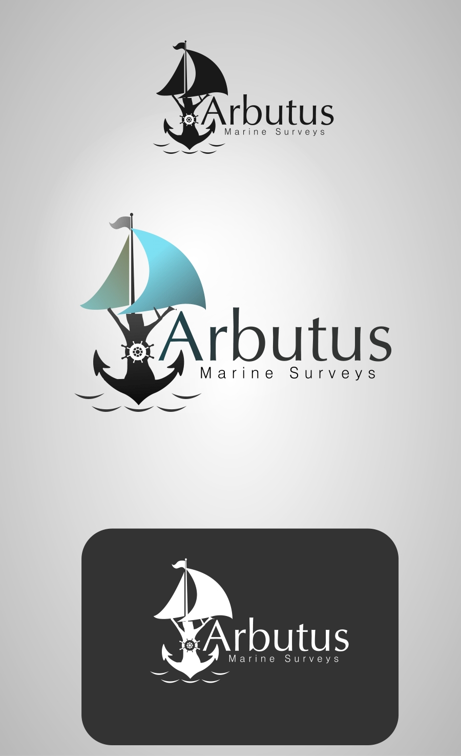 Logo Design by Private User - Entry No. 14 in the Logo Design Contest Professional Business Logo Design for Arbutus Marine Surveys.