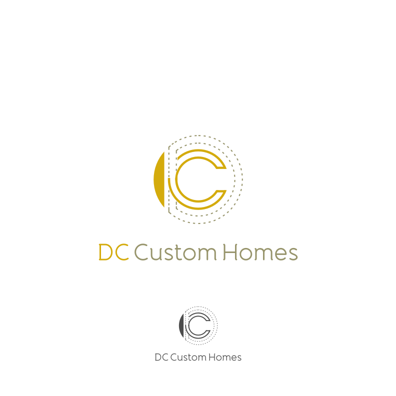 Logo Design by graphicleaf - Entry No. 203 in the Logo Design Contest Creative Logo Design for DC Custom Homes.