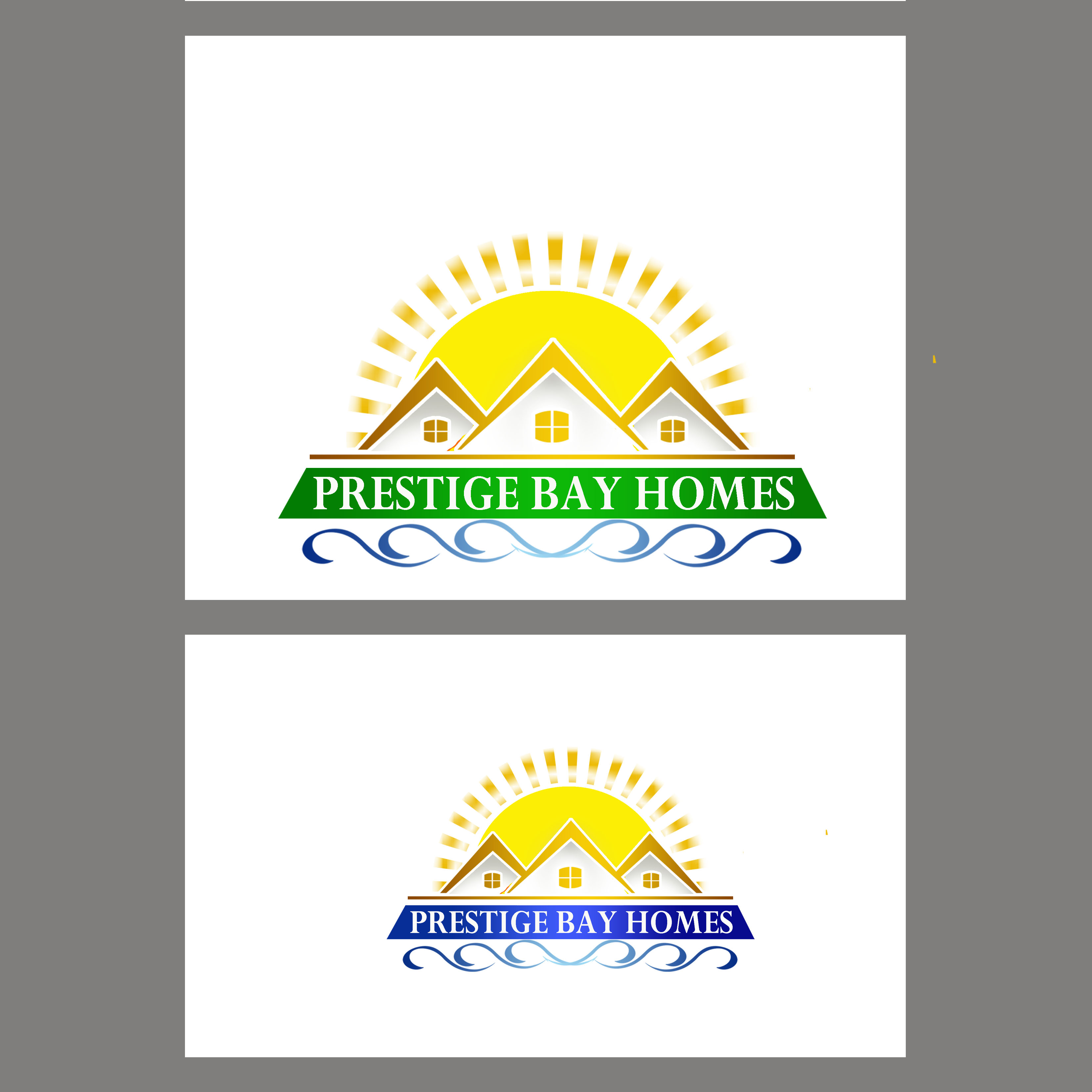 Logo Design by Allan Esclamado - Entry No. 9 in the Logo Design Contest Imaginative Logo Design for Prestige Bay Homes.