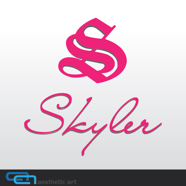 Logo Design by aesthetic-art - Entry No. 89 in the Logo Design Contest Skyler Clothing Logo.