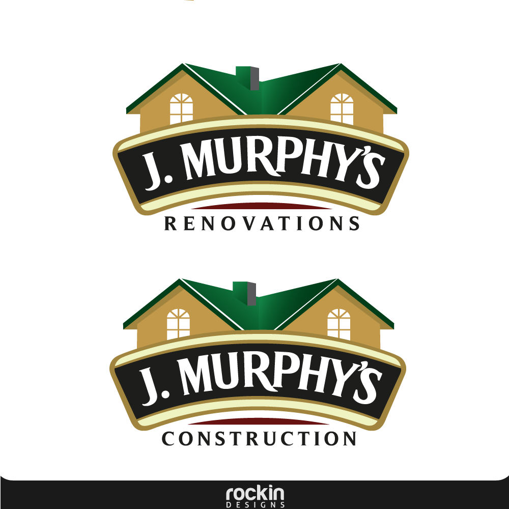 Logo Design by rockin - Entry No. 41 in the Logo Design Contest J. Murphy's Renovations Logo Design.