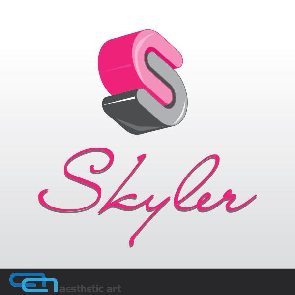 Logo Design by aesthetic-art - Entry No. 91 in the Logo Design Contest Skyler Clothing Logo.