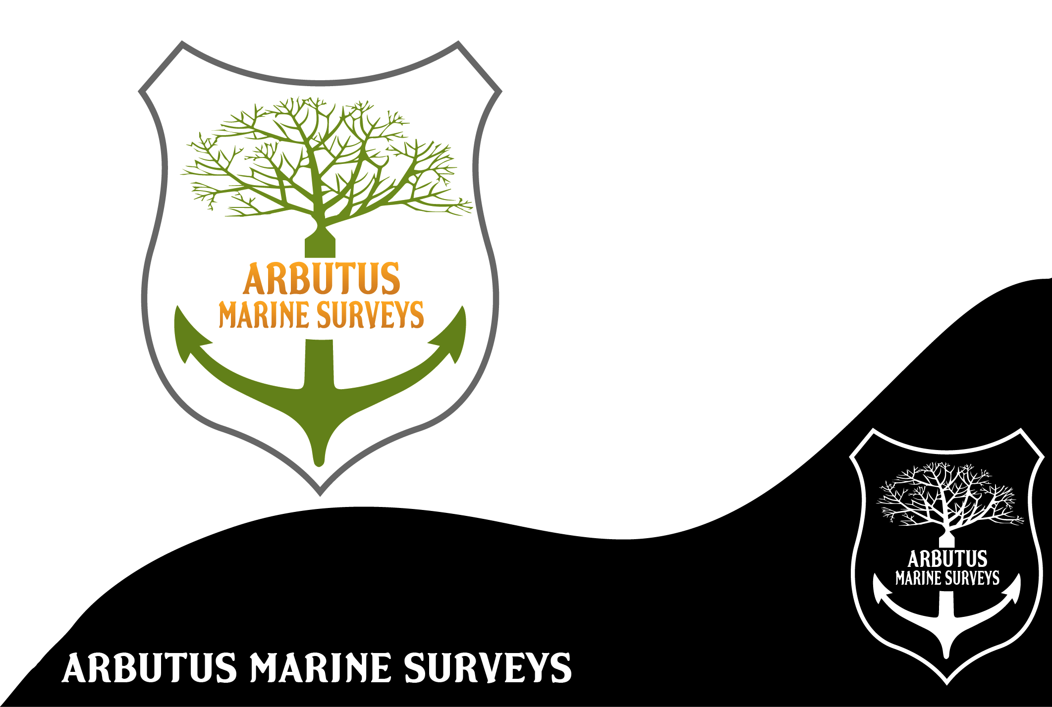 Logo Design by Maninder pal Singh - Entry No. 19 in the Logo Design Contest Professional Business Logo Design for Arbutus Marine Surveys.