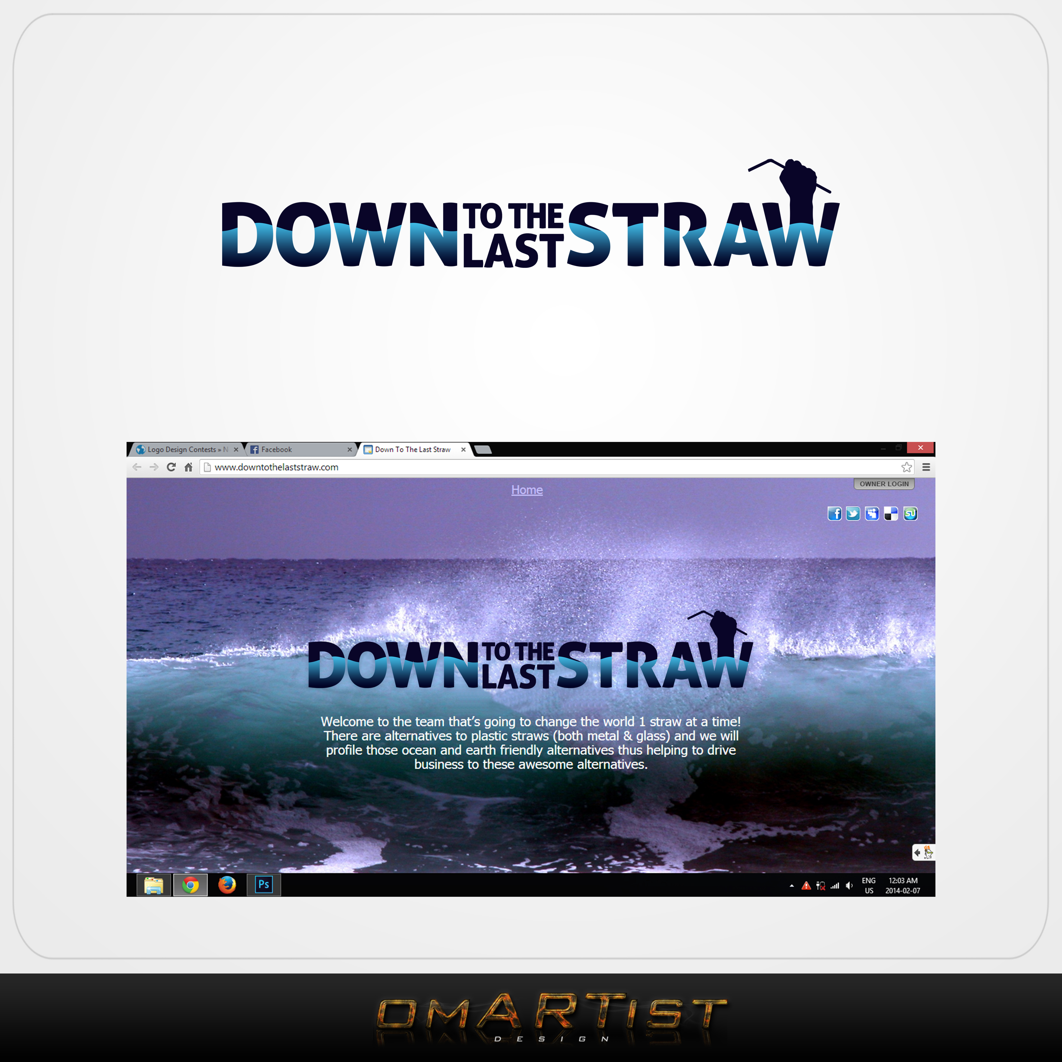 Logo Design by omARTist - Entry No. 34 in the Logo Design Contest New Logo Design for DOWN TO THE LAST STRAW.