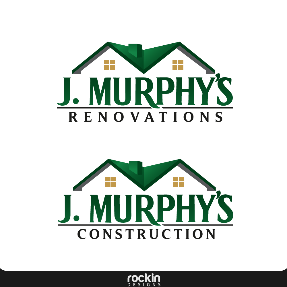 Logo Design by rockin - Entry No. 51 in the Logo Design Contest J. Murphy's Renovations Logo Design.