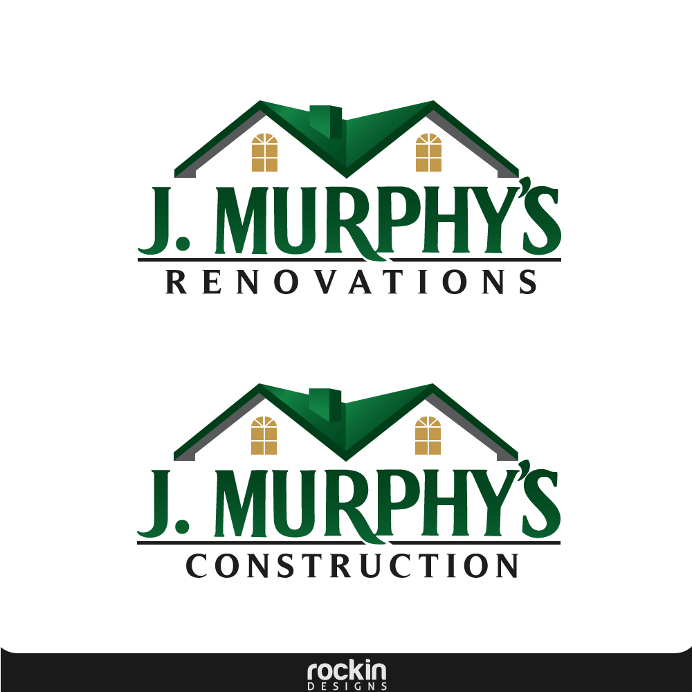 Logo Design by rockin - Entry No. 52 in the Logo Design Contest J. Murphy's Renovations Logo Design.