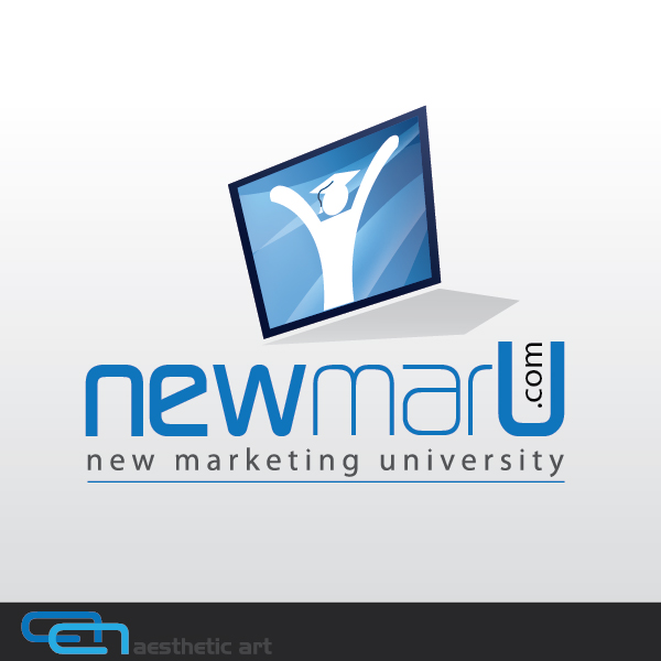 Logo Design by aesthetic-art - Entry No. 70 in the Logo Design Contest NewMarU.com (New Marketing University).