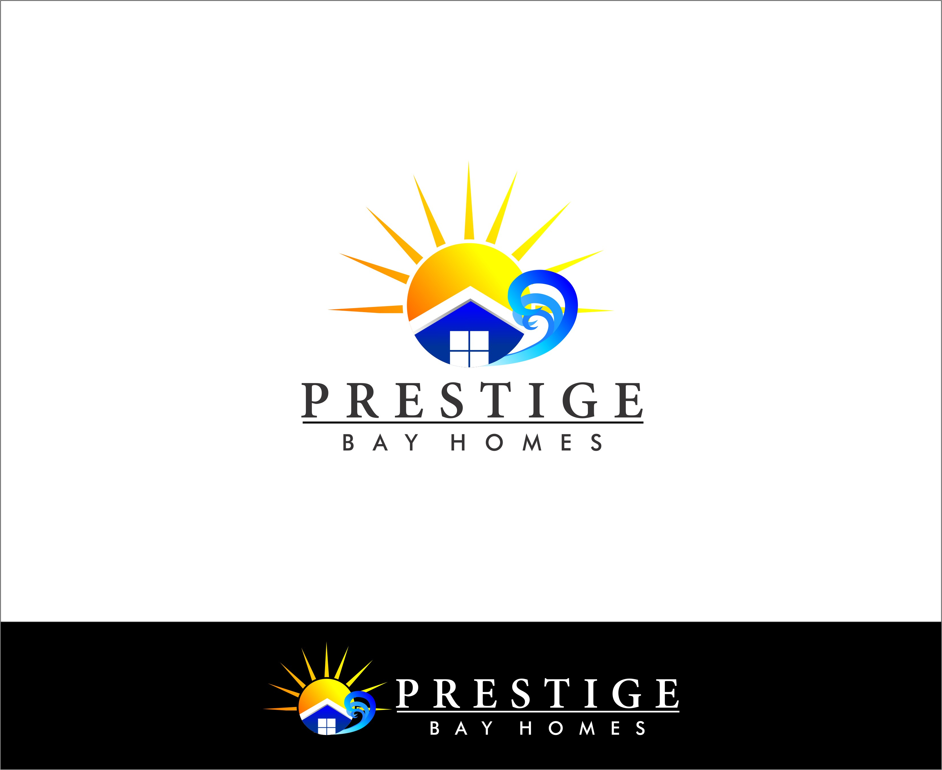 Logo Design by Mhon_Rose - Entry No. 15 in the Logo Design Contest Imaginative Logo Design for Prestige Bay Homes.