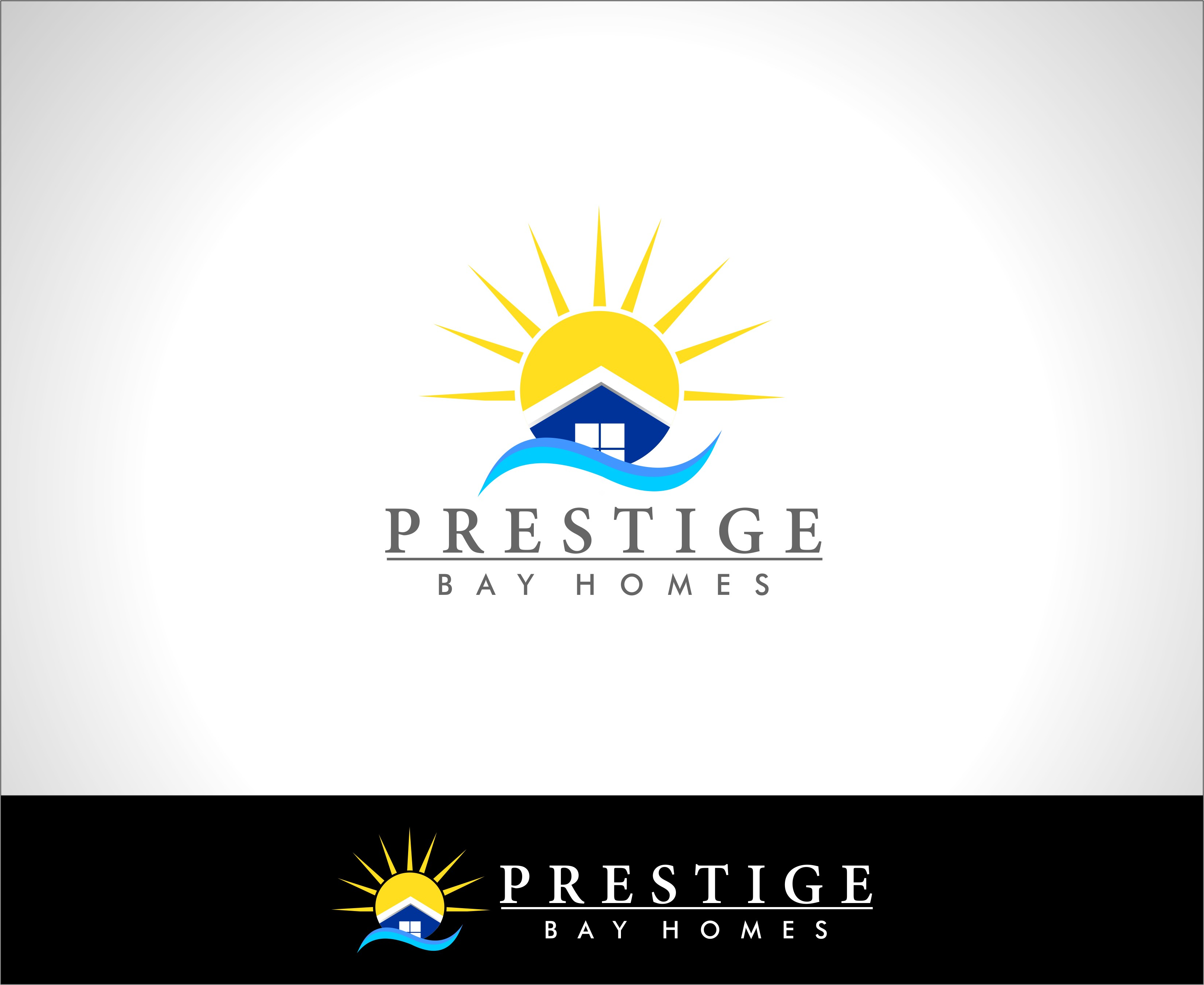 Logo Design by Mhon_Rose - Entry No. 18 in the Logo Design Contest Imaginative Logo Design for Prestige Bay Homes.