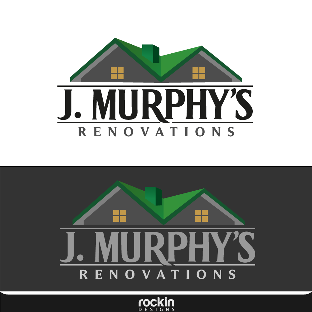 Logo Design by rockin - Entry No. 81 in the Logo Design Contest J. Murphy's Renovations Logo Design.