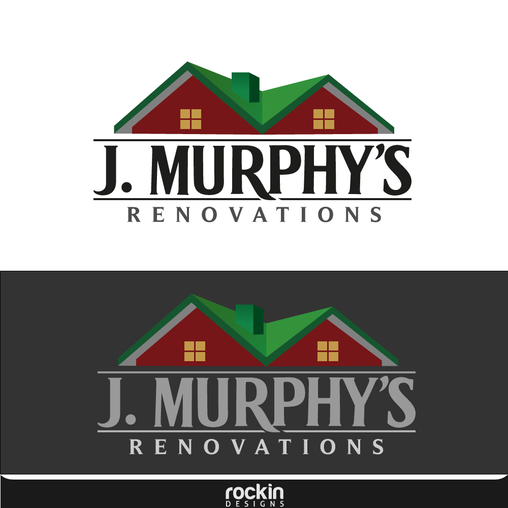 Logo Design by rockin - Entry No. 82 in the Logo Design Contest J. Murphy's Renovations Logo Design.