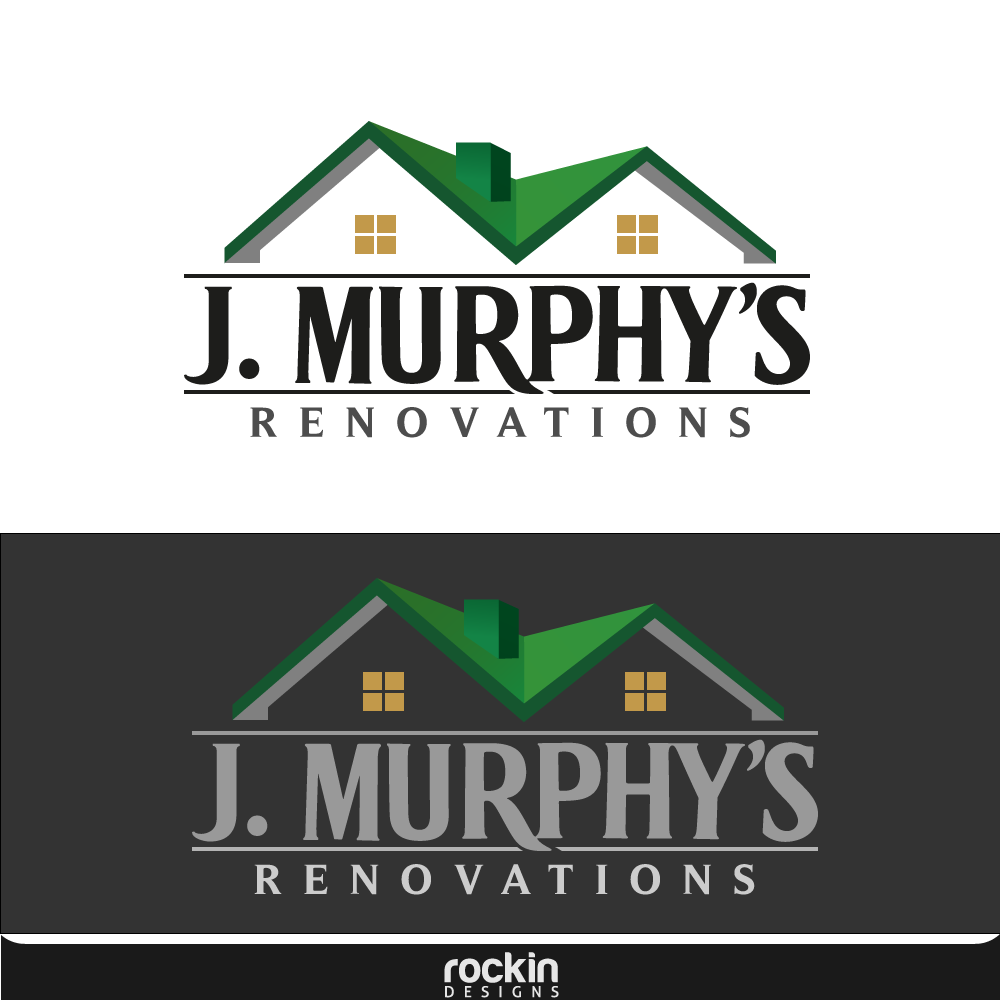 Logo Design by rockin - Entry No. 83 in the Logo Design Contest J. Murphy's Renovations Logo Design.