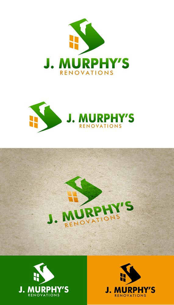Logo Design by Respati Himawan - Entry No. 93 in the Logo Design Contest J. Murphy's Renovations Logo Design.