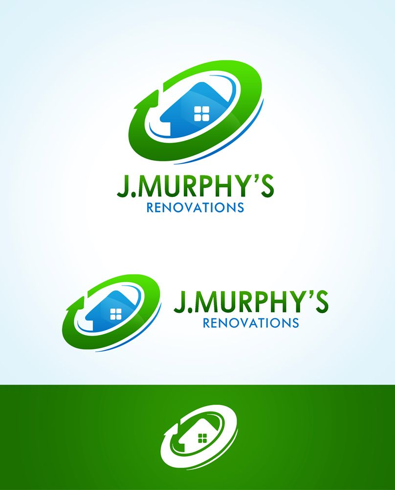 Logo Design by Respati Himawan - Entry No. 94 in the Logo Design Contest J. Murphy's Renovations Logo Design.
