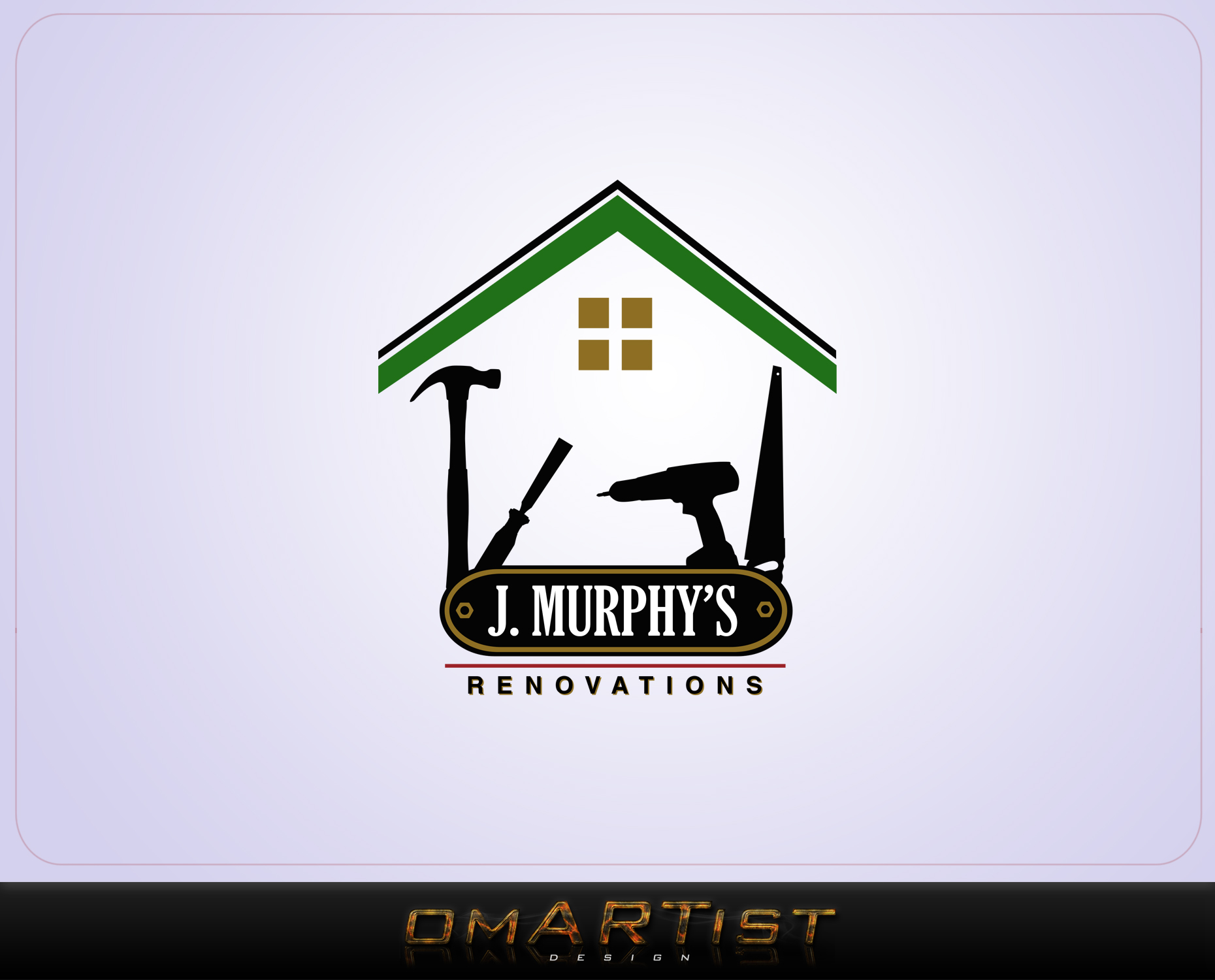 Logo Design by omARTist - Entry No. 101 in the Logo Design Contest J. Murphy's Renovations Logo Design.