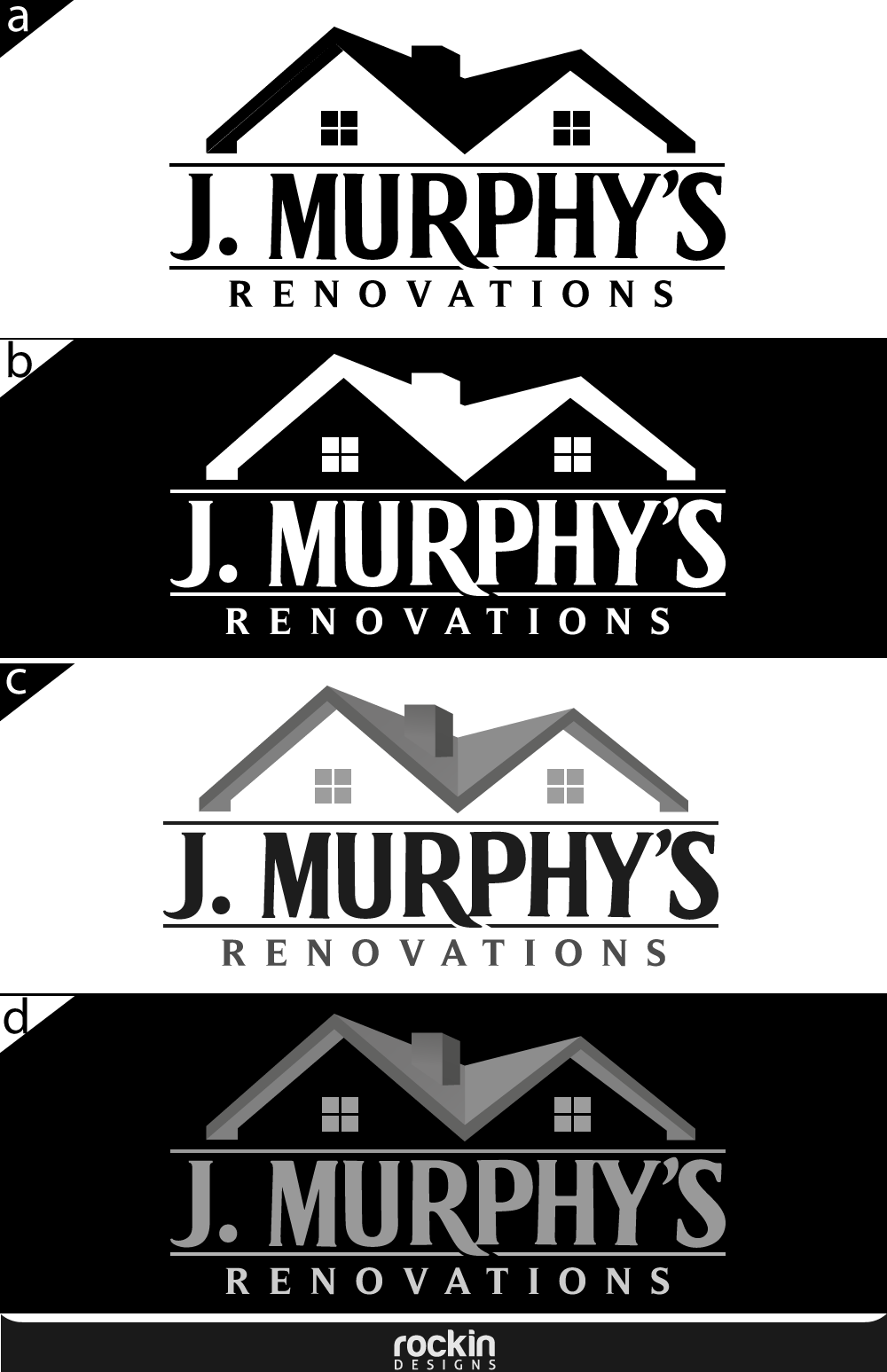 Logo Design by rockin - Entry No. 103 in the Logo Design Contest J. Murphy's Renovations Logo Design.