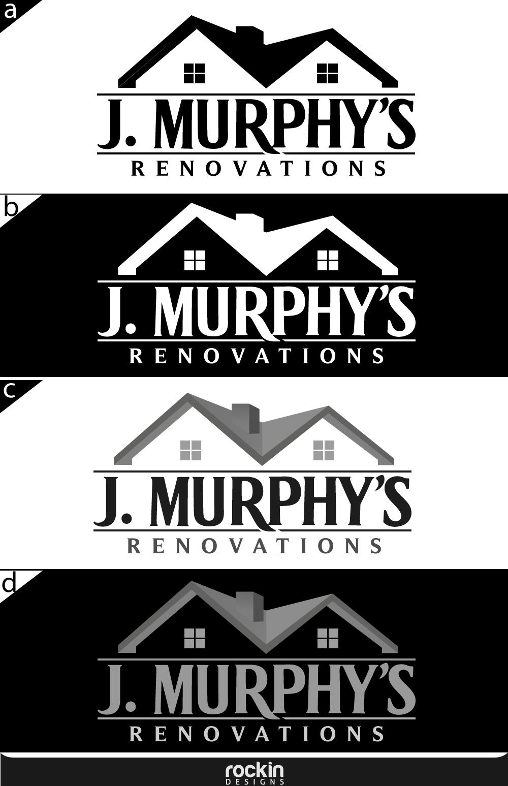 Logo Design by rockin - Entry No. 103 in the Logo Design Contest J. Murphy's Renovations Logo Design.