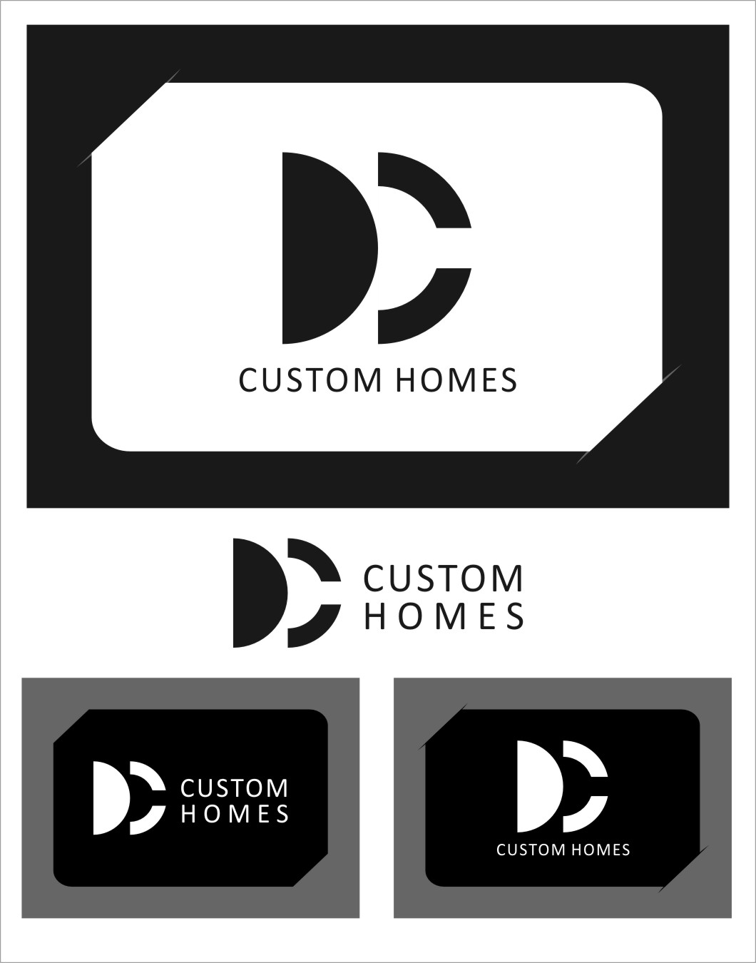 Logo Design by Ngepet_art - Entry No. 264 in the Logo Design Contest Creative Logo Design for DC Custom Homes.