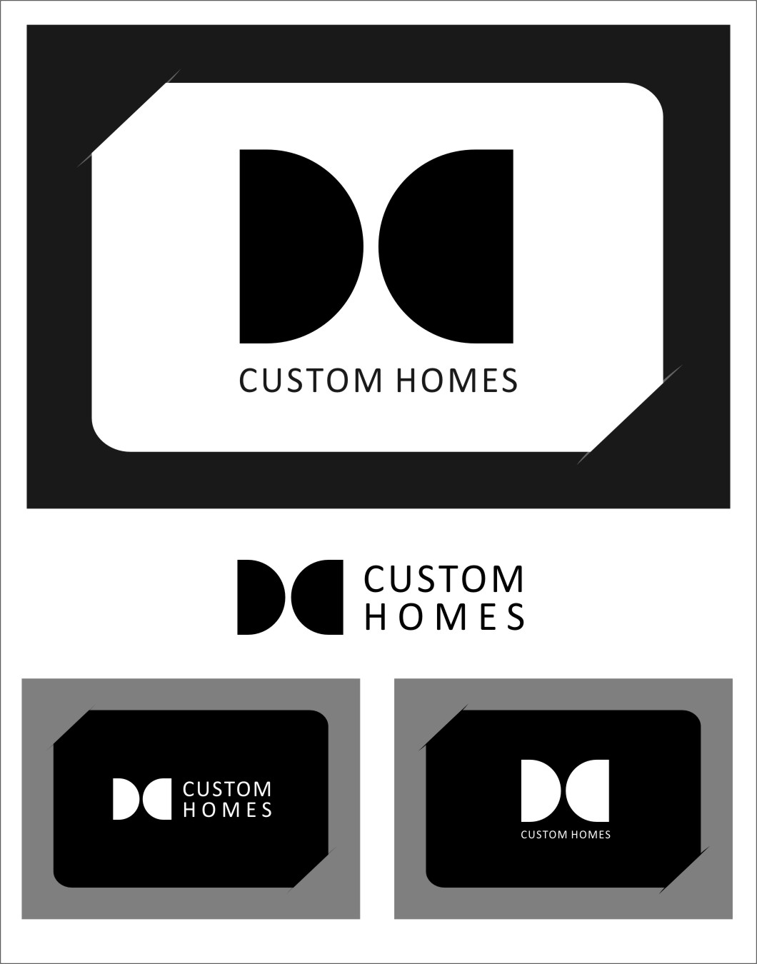 Logo Design by RasYa Muhammad Athaya - Entry No. 267 in the Logo Design Contest Creative Logo Design for DC Custom Homes.