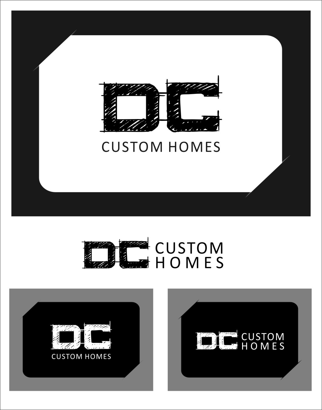 Logo Design by RoSyid Rono-Rene On Java - Entry No. 268 in the Logo Design Contest Creative Logo Design for DC Custom Homes.