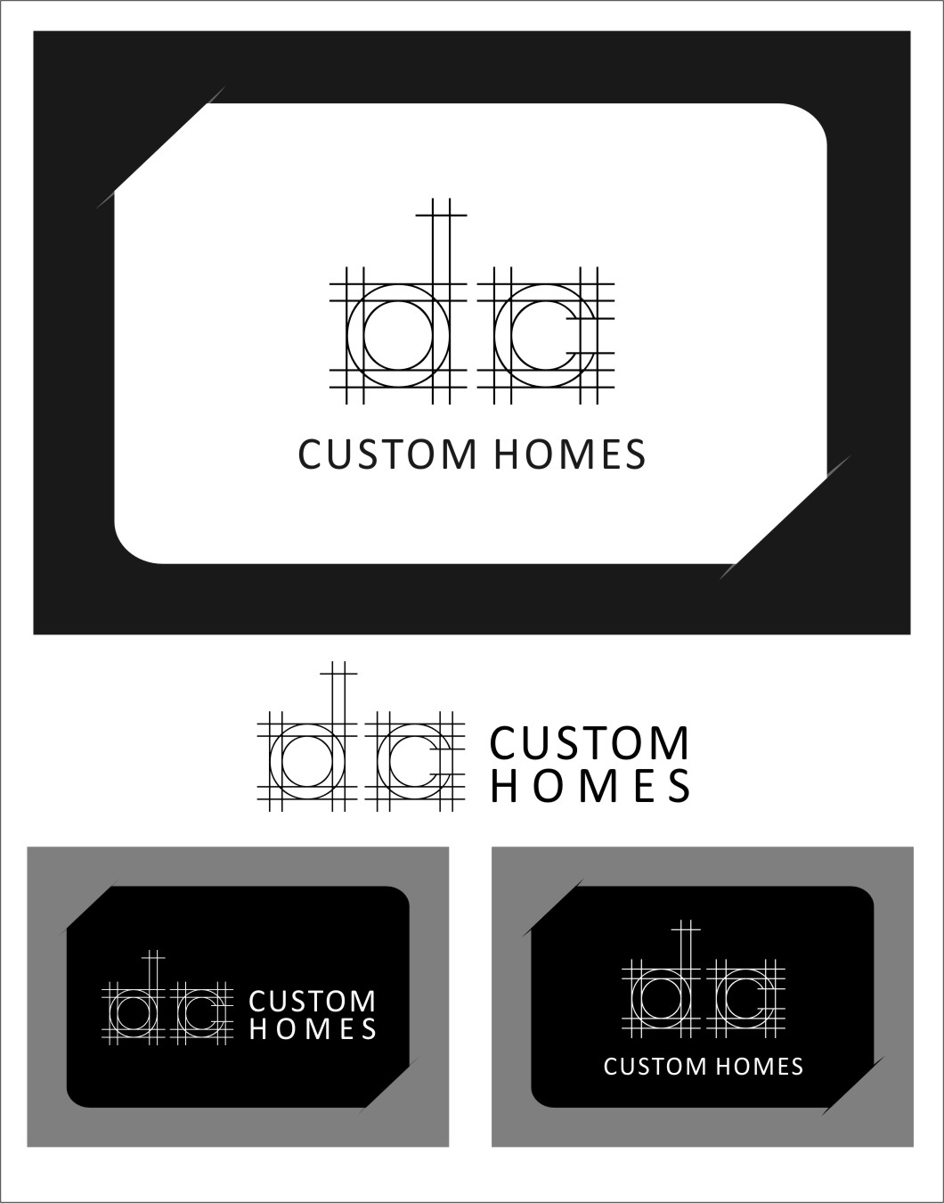 Logo Design by RoSyid Rono-Rene On Java - Entry No. 272 in the Logo Design Contest Creative Logo Design for DC Custom Homes.