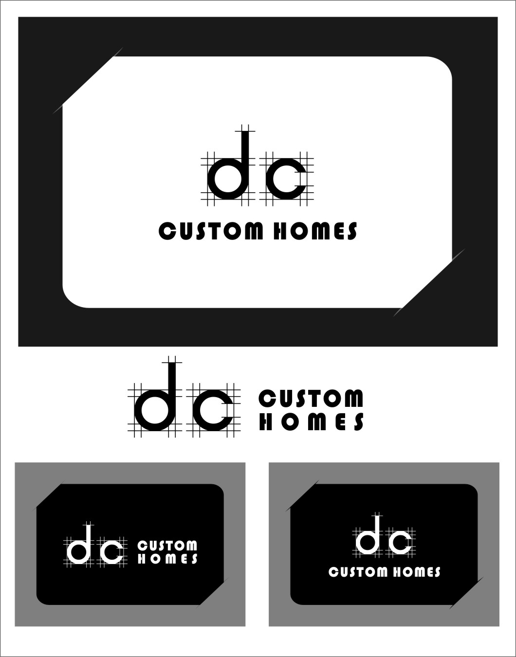 Logo Design by RasYa Muhammad Athaya - Entry No. 274 in the Logo Design Contest Creative Logo Design for DC Custom Homes.
