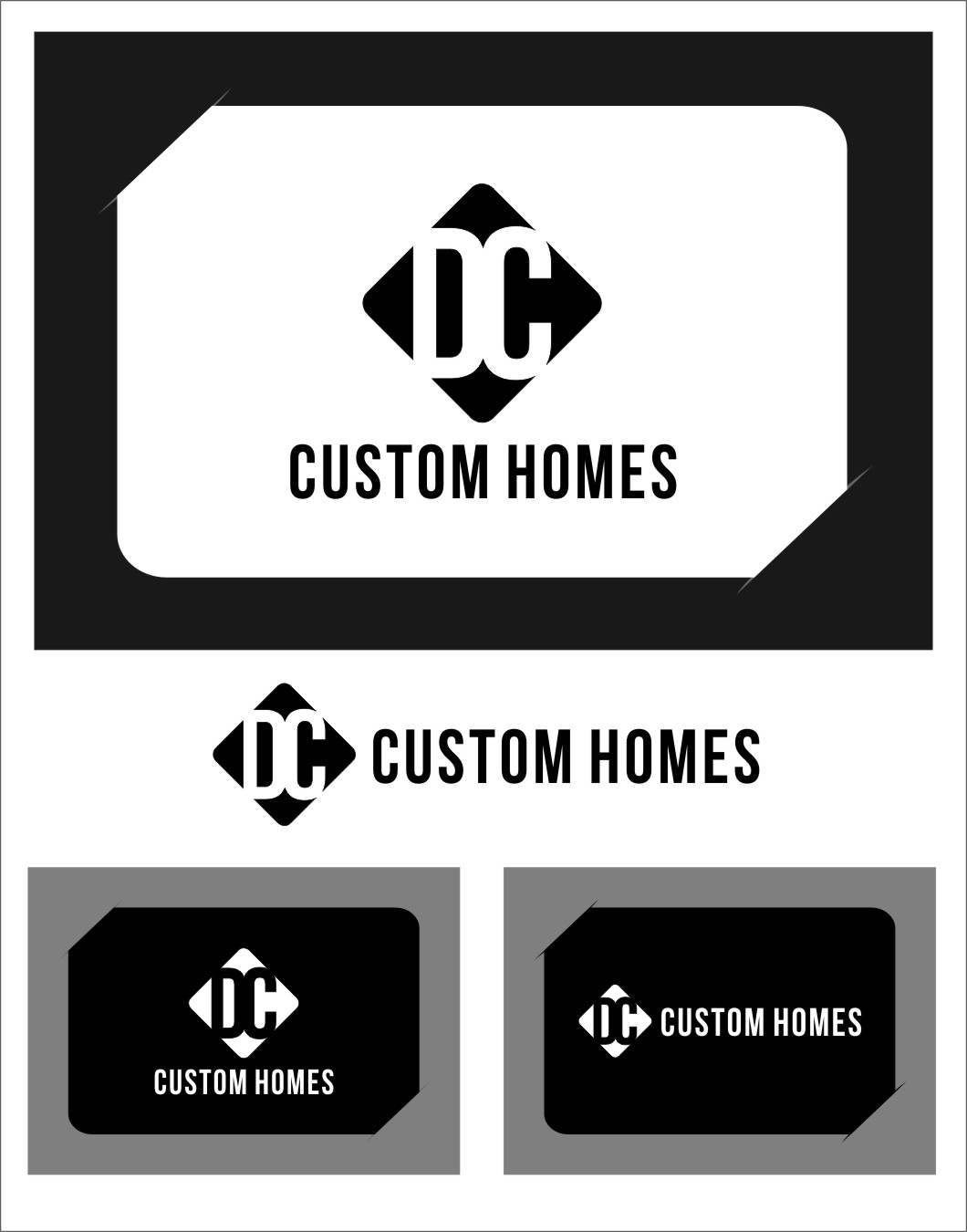 Logo Design by Ngepet_art - Entry No. 276 in the Logo Design Contest Creative Logo Design for DC Custom Homes.