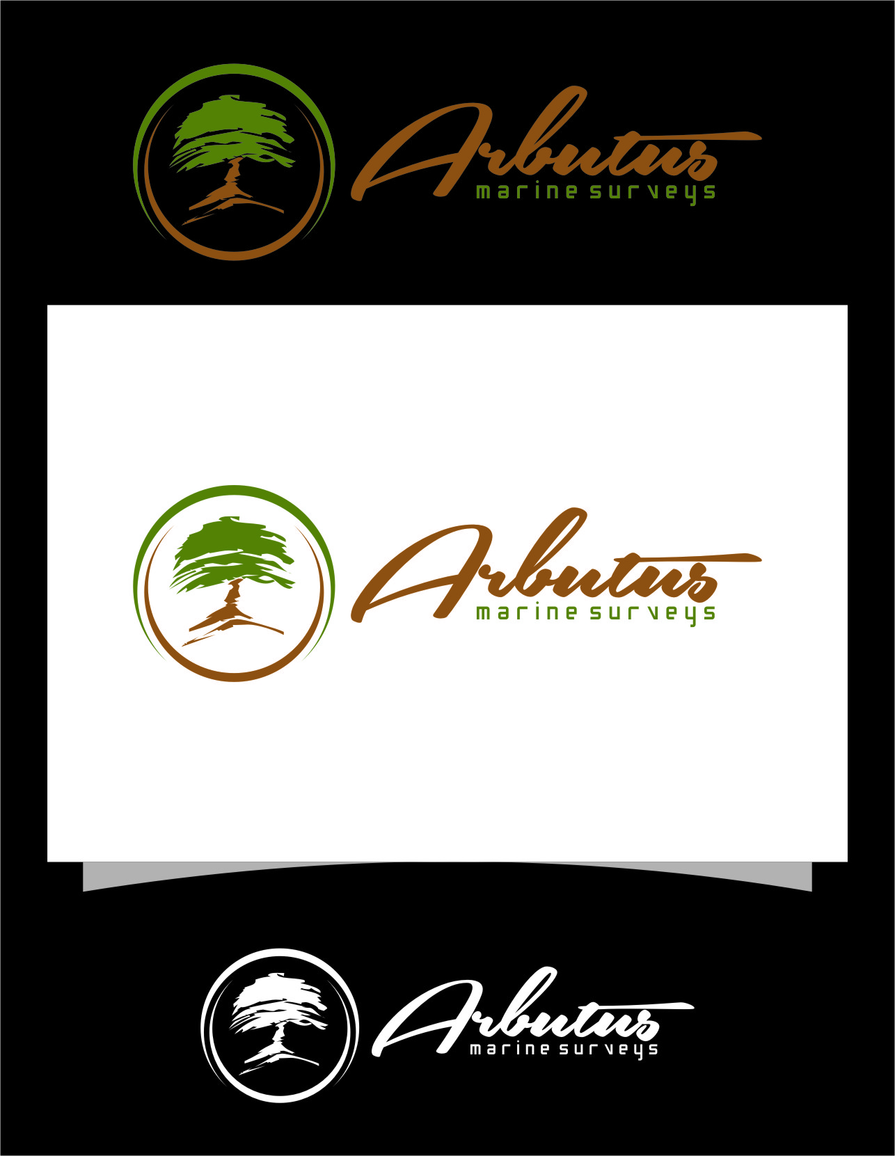 Logo Design by RoSyid Rono-Rene On Java - Entry No. 40 in the Logo Design Contest Professional Business Logo Design for Arbutus Marine Surveys.