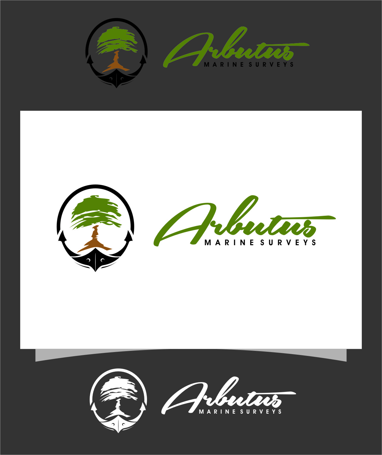 Logo Design by Ngepet_art - Entry No. 41 in the Logo Design Contest Professional Business Logo Design for Arbutus Marine Surveys.