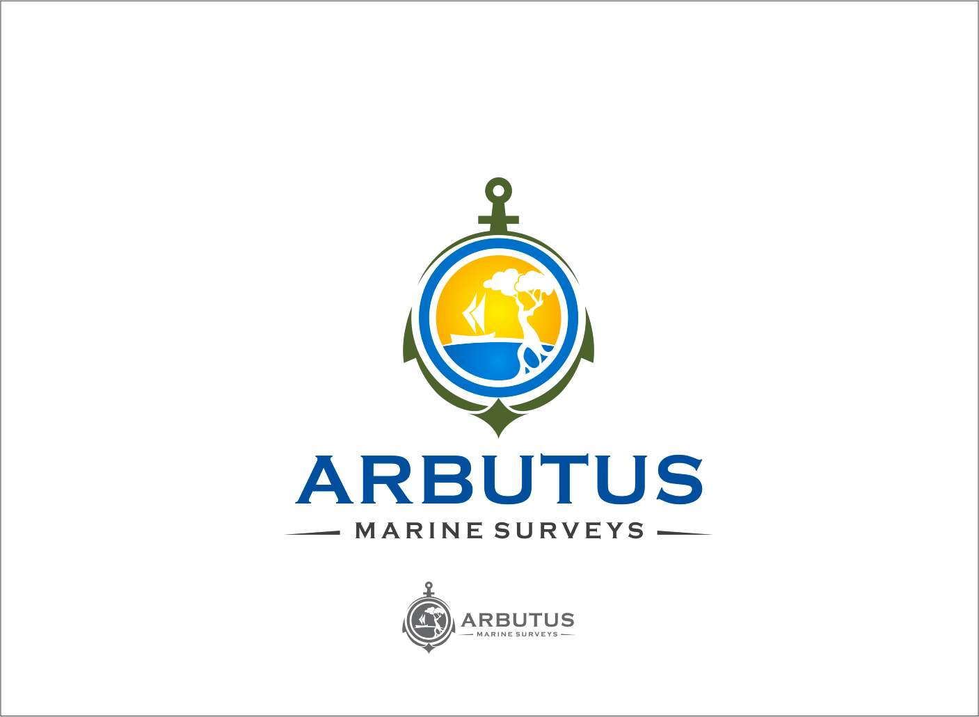 Logo Design by Armada Jamaluddin - Entry No. 43 in the Logo Design Contest Professional Business Logo Design for Arbutus Marine Surveys.