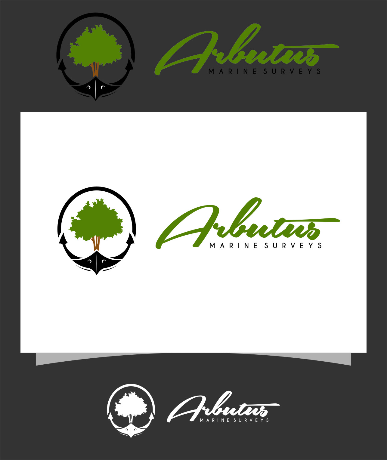 Logo Design by RoSyid Rono-Rene On Java - Entry No. 45 in the Logo Design Contest Professional Business Logo Design for Arbutus Marine Surveys.