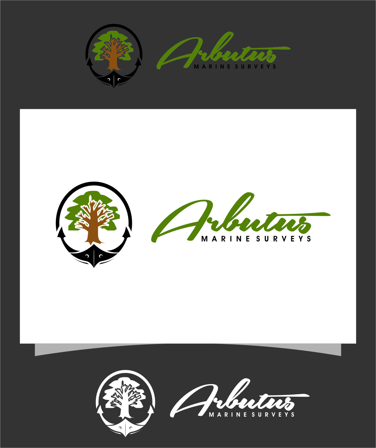 Logo Design by RasYa Muhammad Athaya - Entry No. 46 in the Logo Design Contest Professional Business Logo Design for Arbutus Marine Surveys.