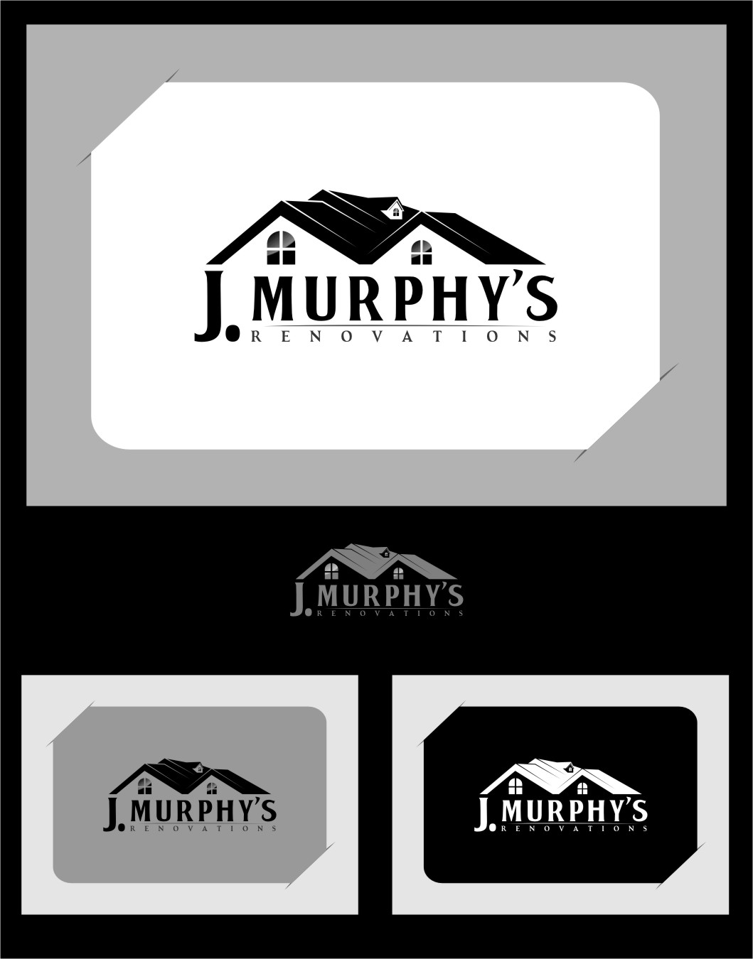Logo Design by RasYa Muhammad Athaya - Entry No. 109 in the Logo Design Contest J. Murphy's Renovations Logo Design.
