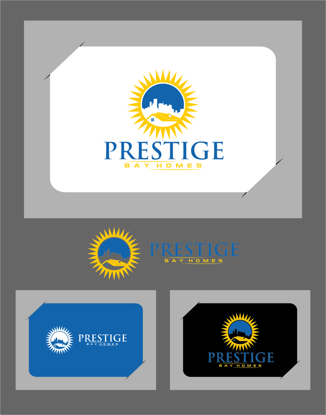 Logo Design by RasYa Muhammad Athaya - Entry No. 80 in the Logo Design Contest Imaginative Logo Design for Prestige Bay Homes.