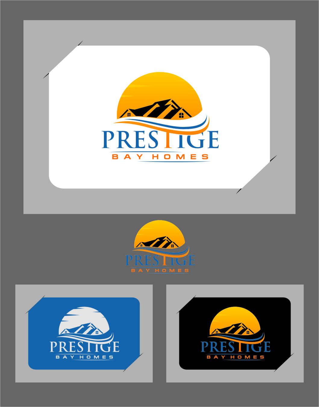 Logo Design by RasYa Muhammad Athaya - Entry No. 94 in the Logo Design Contest Imaginative Logo Design for Prestige Bay Homes.