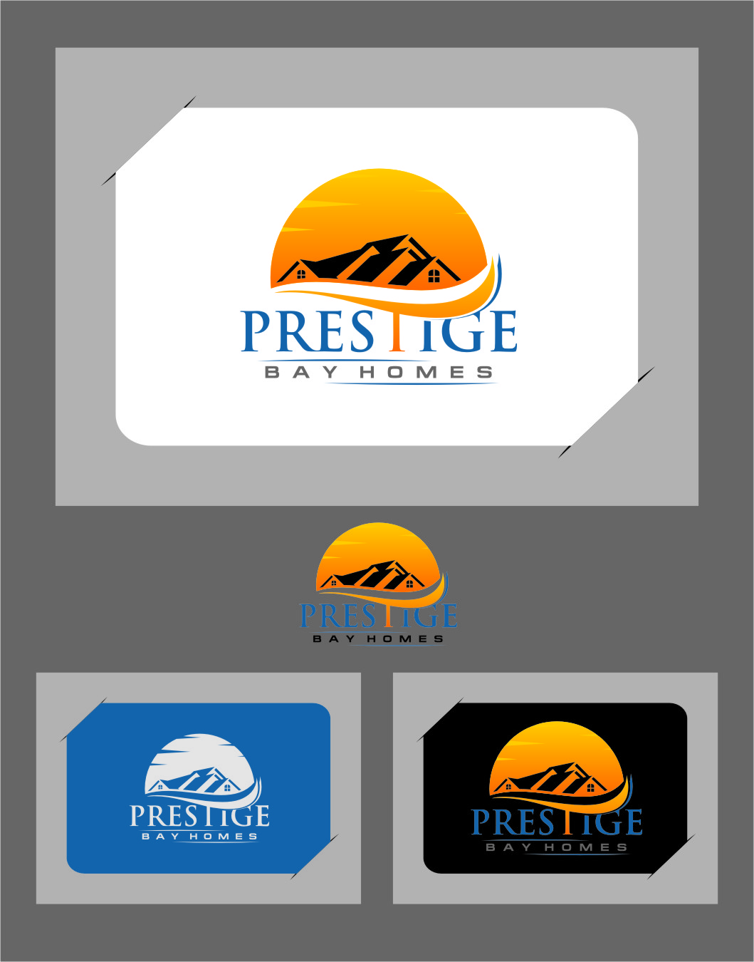 Logo Design by Ngepet_art - Entry No. 95 in the Logo Design Contest Imaginative Logo Design for Prestige Bay Homes.