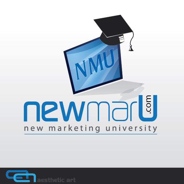 Logo Design by aesthetic-art - Entry No. 101 in the Logo Design Contest NewMarU.com (New Marketing University).